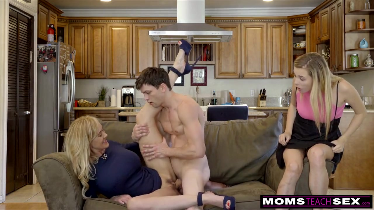 Mature Blonde Fucks Young Guy