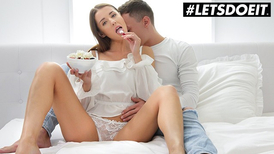 Lovely girl has a romantic adventure with her man